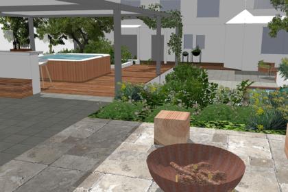 Záhrada v radovej zástavbe