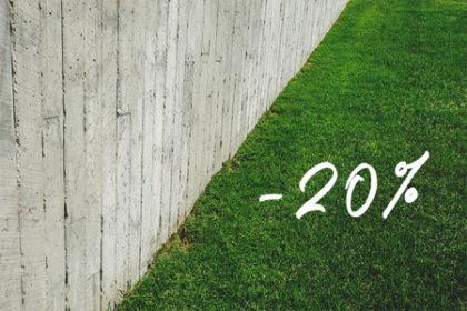 Záhrada o 20% lacnejšia
